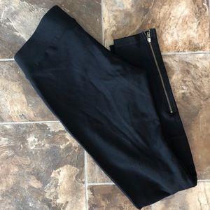 Cabi Black Ankle Zip Legging